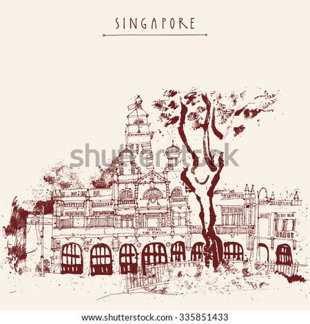 singapore fire station drawing