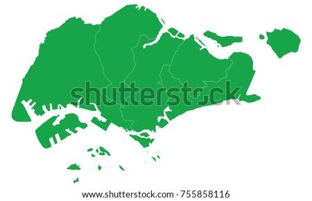 Singapore green map
