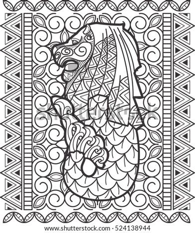 singapore icon doodle art