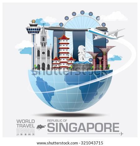 Singapore Landmark Global Travel And Journey Infographic Vector Design Template
