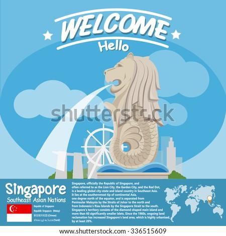 singapore landmark merlion with