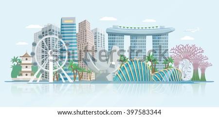 Singapore Skyline Free Vector Art - (27 Free Downloads)