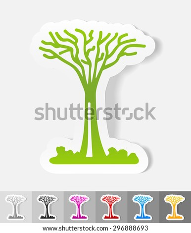 singapore tree paper sticker