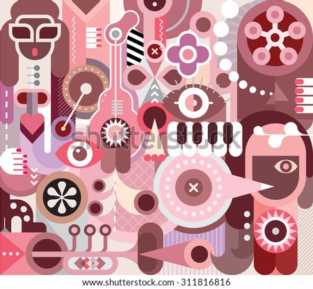 singer abstract vector