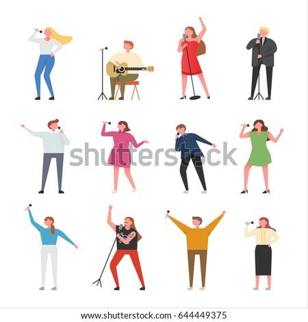 singer character vector illustration flat design