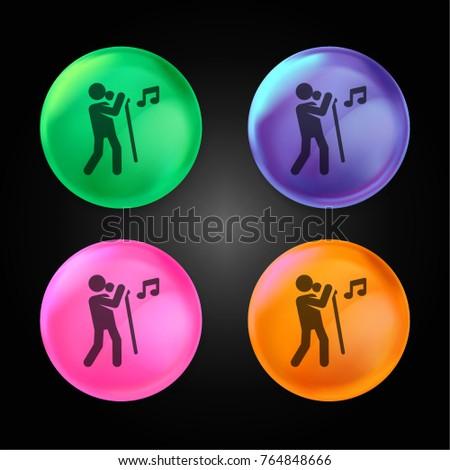 singer crystal ball design icon