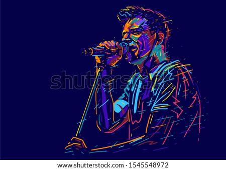 singer man character abstract