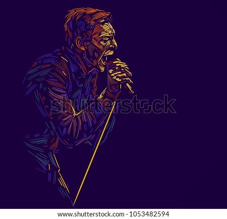 singer man characterabstract