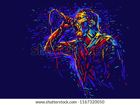 singer man characterabstract