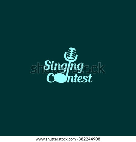 singing contest logo design