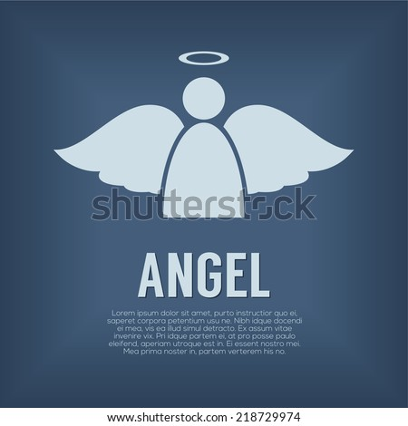 single angel symbol vector