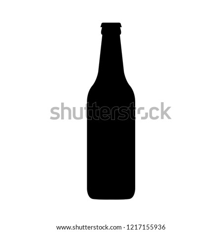 Single beer bottle isolated on a white background