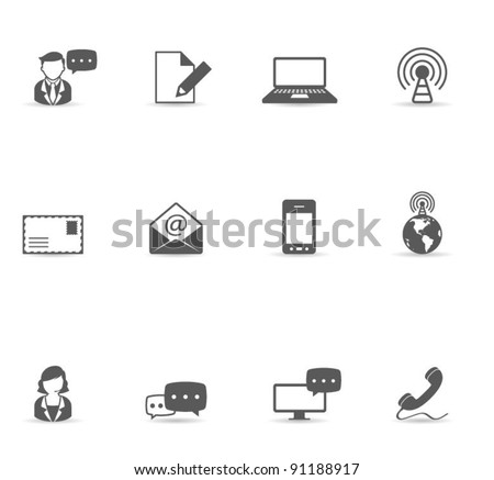 Single Color Icons - Communication