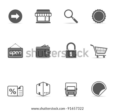 Single Color Icons - E-commerce