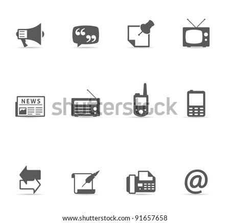 Single Color Icons - More Communication