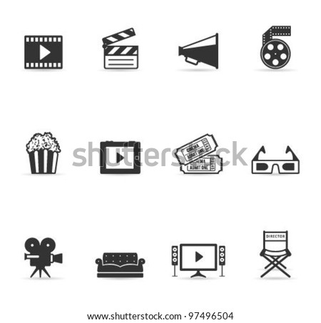 single color icons   movies