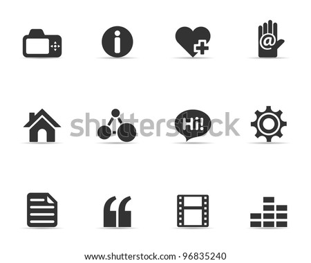 Single Color Icons - Personal Portfolio - stock vector