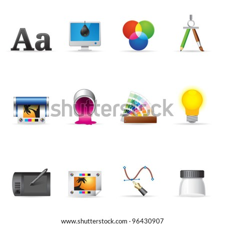 Single Color Icons - Printing & Graphic Design