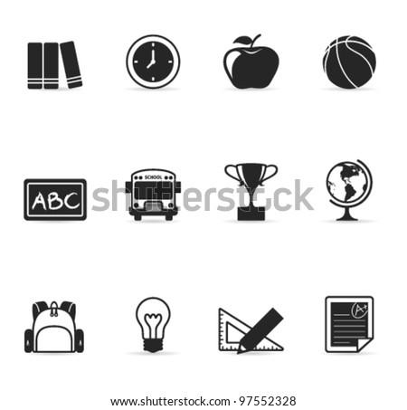 Single Color Icons - School