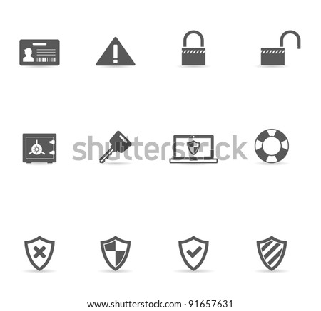 Single Color Icons - Security