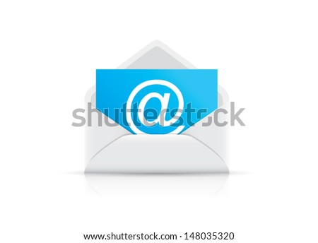 Single e-mail envelope vector
