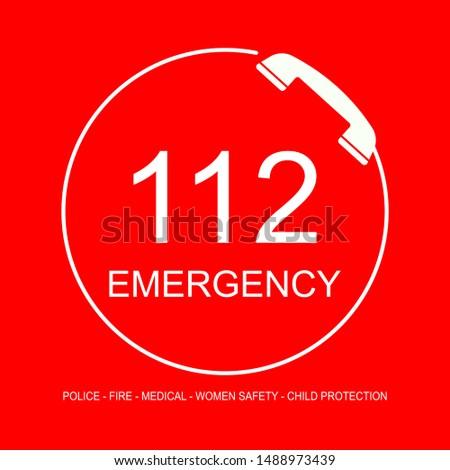 Single emergency helpline number of India: 112.