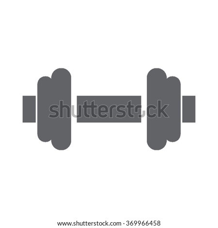 single gray icons   gym dumbell