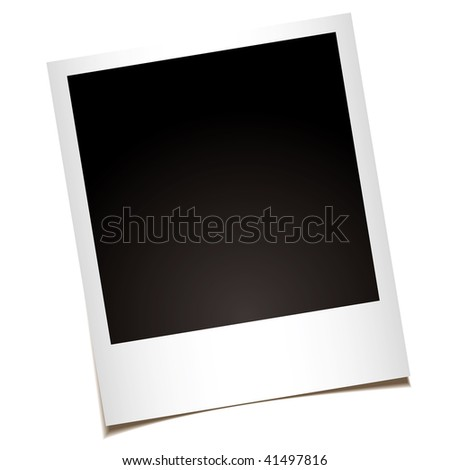 single instant photo with black space with room to add your own image