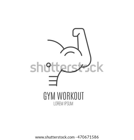 single logo with a muscle man