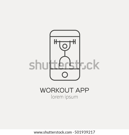 single logo with a phone with