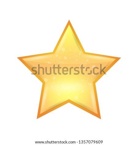 Single Realistic shining star icon. Vector illustration.