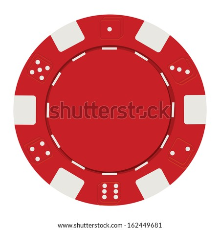 single red casino chip isolated