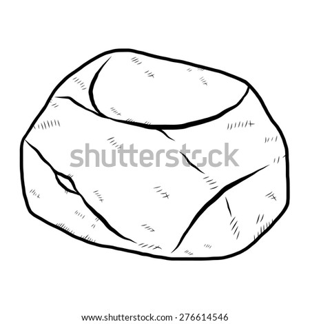 single rock   cartoon vector