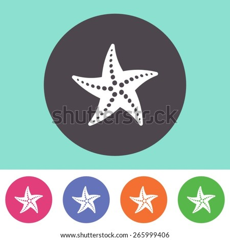 single vector starfish icon on