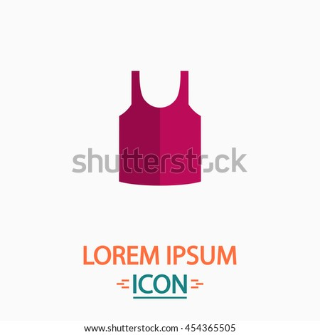 singlet Flat icon on white background. Simple vector illustration
