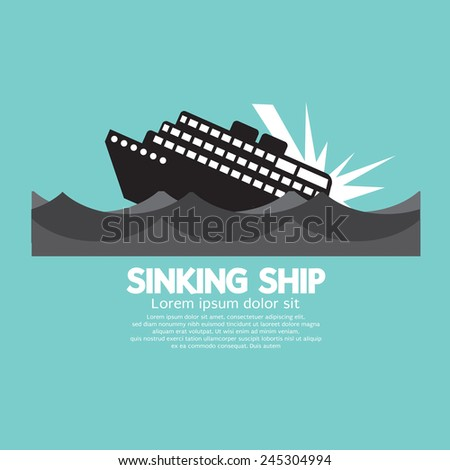 sinking ship black graphic