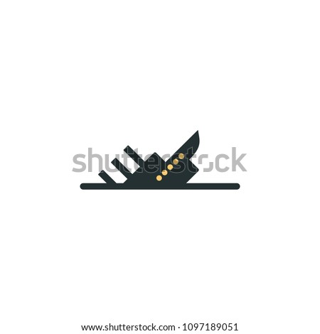 sinking ship icon element of