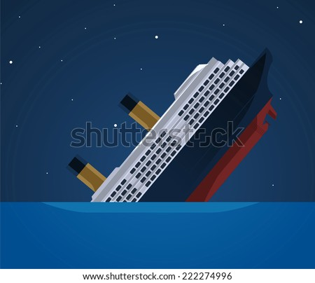 sinking ship illustration