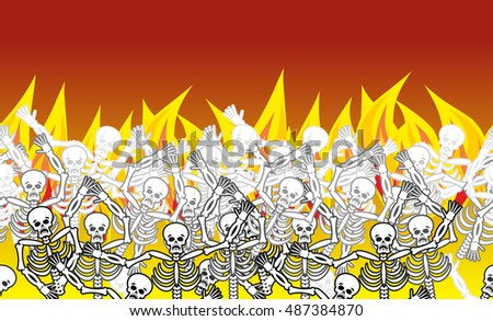 sinners in fire hell horizontal