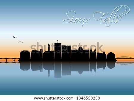 sioux falls skyline   south