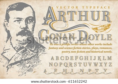 sir arthur conan doyle   vector