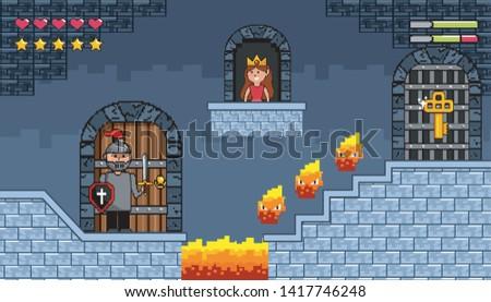sir boy inside castle with fire