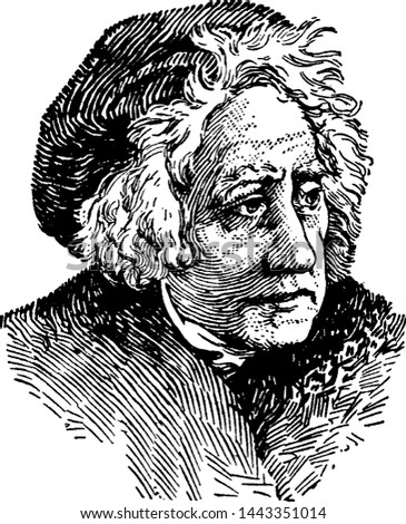 Sir William Herschel, vintage illustration