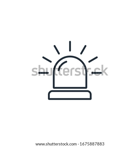 Siren. Attract attention. Alarm, danger. Vector linear icon on a white background.