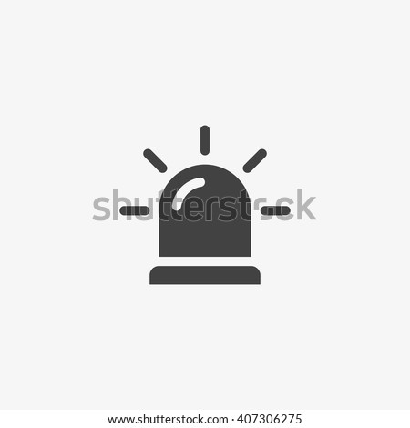 siren icon in trendy flat style