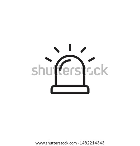 Siren Icon in trendy flat style isolated on white background. Alarm symbol for your web site design, logo, app, UI. Vector illustration, EPS10.