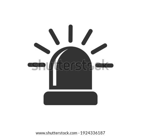 Siren light icon symbol shape. Flasher attention logo sign. Vector illustration image. Isolated on white background. Stockfoto ©