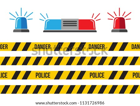 Siren set. Police flasher or ambulance flasher. Siren police light vector