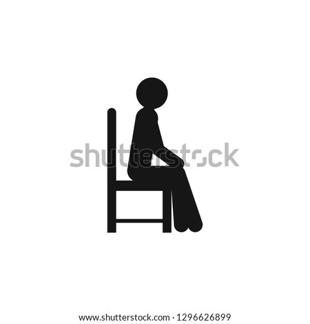 sit down icon vector on white background, sit down trendy filled icons from People collection. Foto d'archivio ©