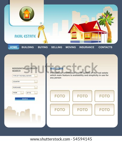 site real estate - stock vector